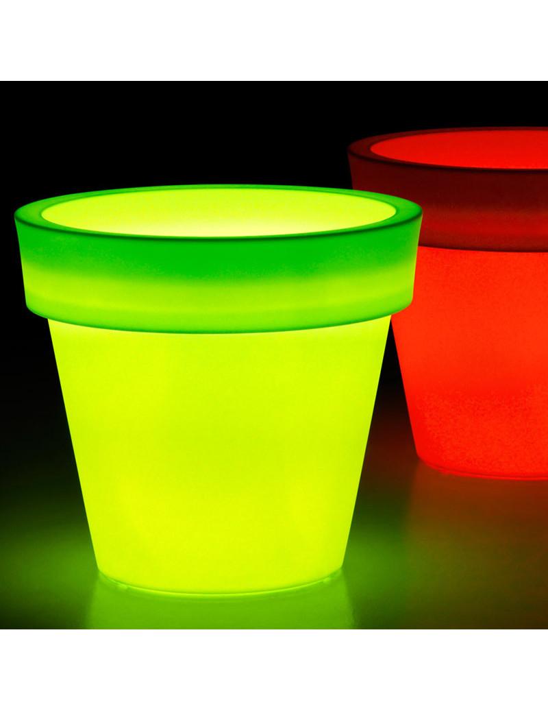 Vasi Da Giardino Colorati vaso luminoso rgb da esterno euro3plast ikon