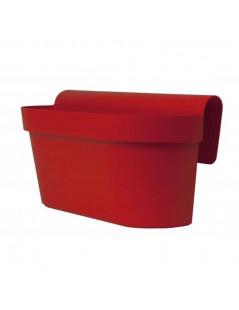 Cassetta per fiori Mitu Up di Euro3plast rosso smalto