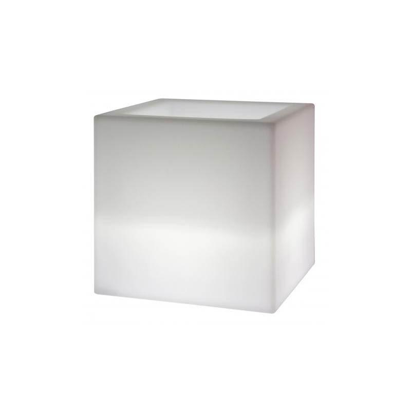 Vaso luminoso per interni Euro3plast Kube Mini cm20 2783
